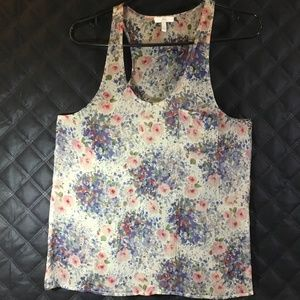 Joie Womens Sheer Floral Fabric Tank Top Size Sm